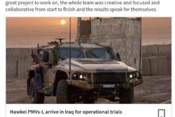 Hawkei PMVs-L Arrive in Iraq for operation